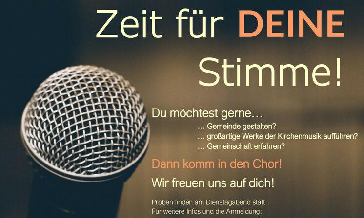 Zeit für DEINE Stimme! Chor Kantorei St. Martin Hannover-Linden