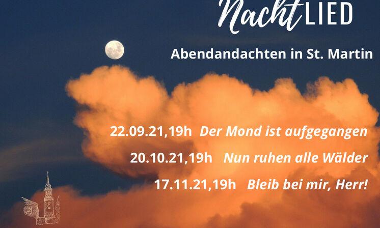 NachtLIED - Abendandachten in St. Martin Herbst 2021